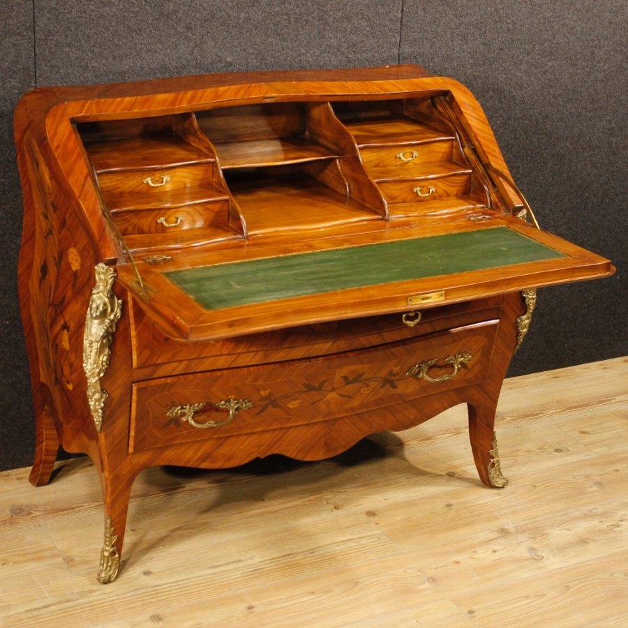 Antique French inlaid bureau in Louis XV