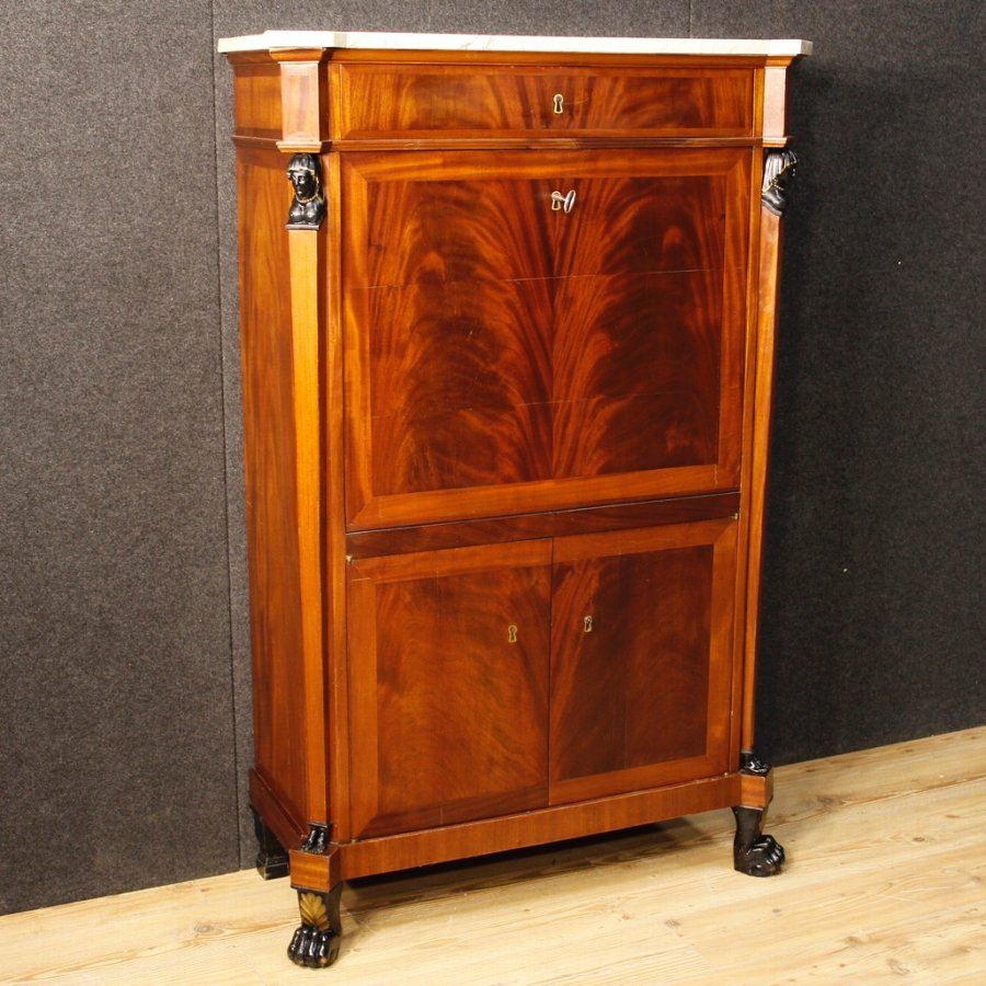 Antique Dutch secrétaire in mahogany from 19th century