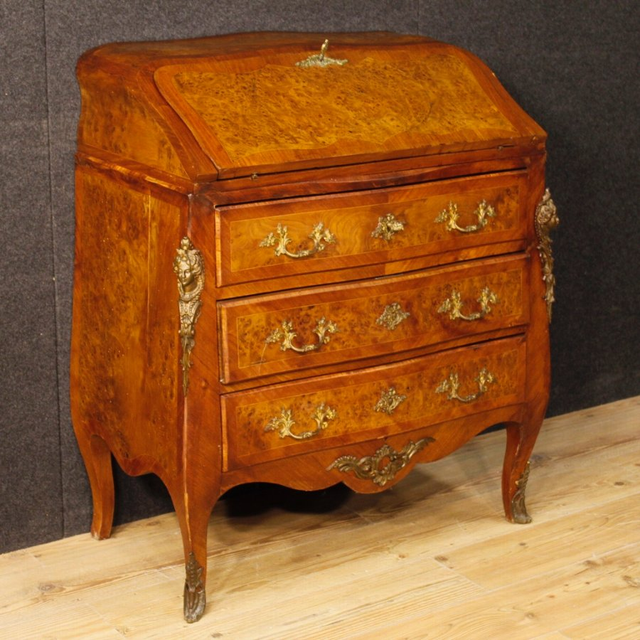 French inlaid bureau in Louis XV style