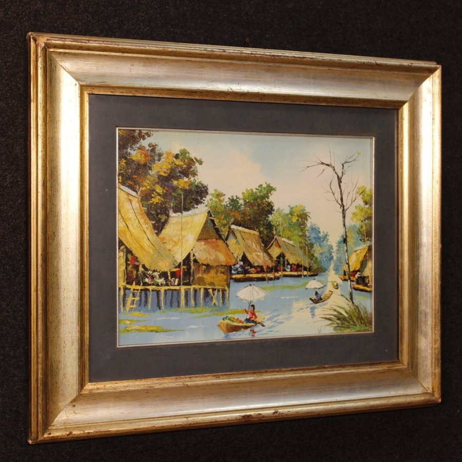 French oriental landscape painting oil on canvas