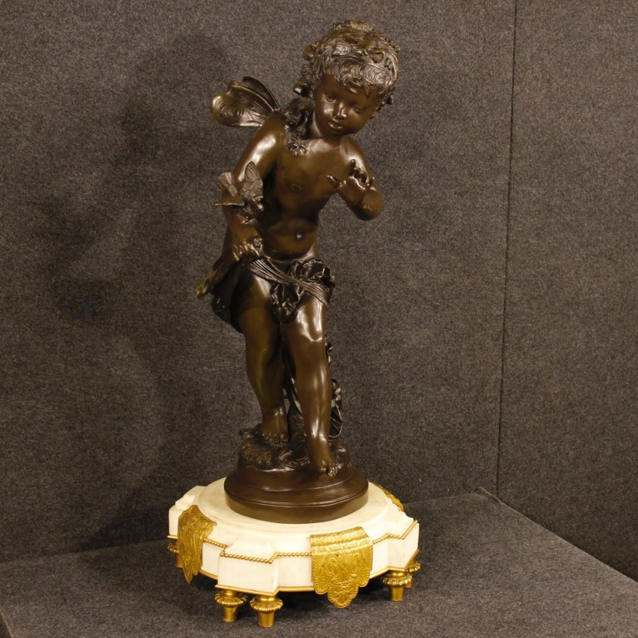 French bronze sculpture depicting Le message by Auguste Moreau