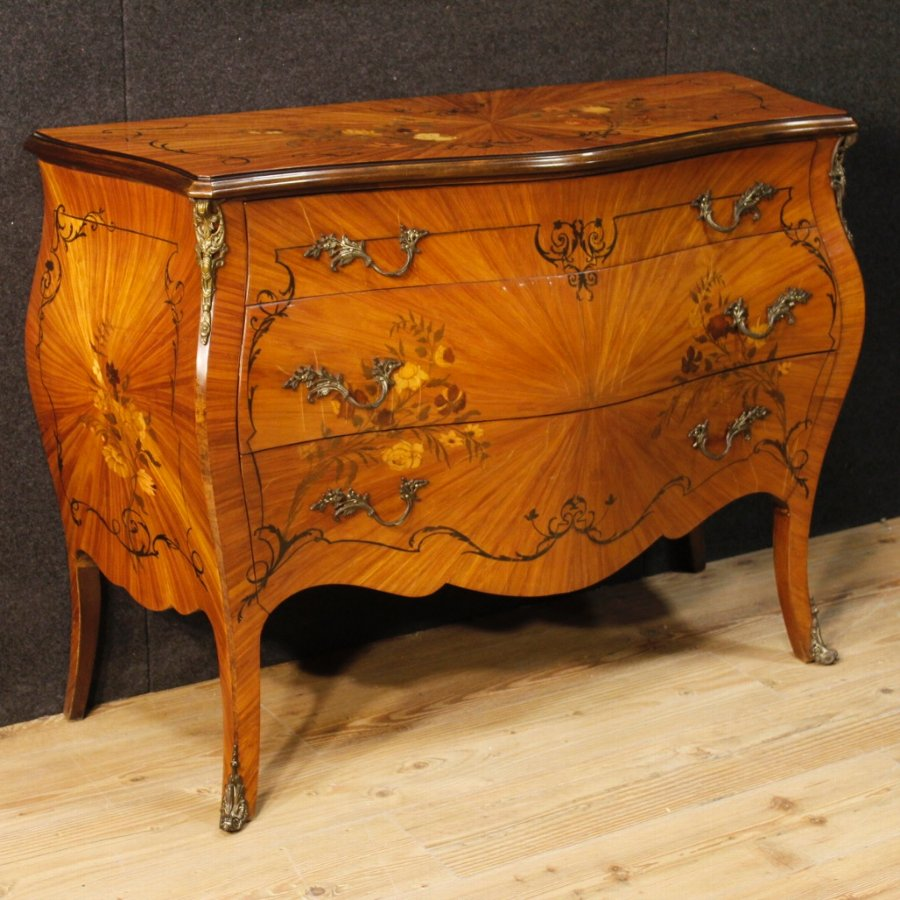 French dresser in inlaid wood