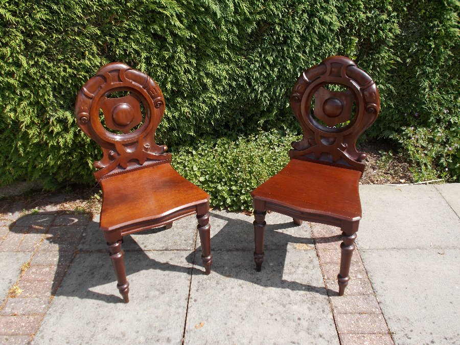 Pair William IV Footman Chairs C1820