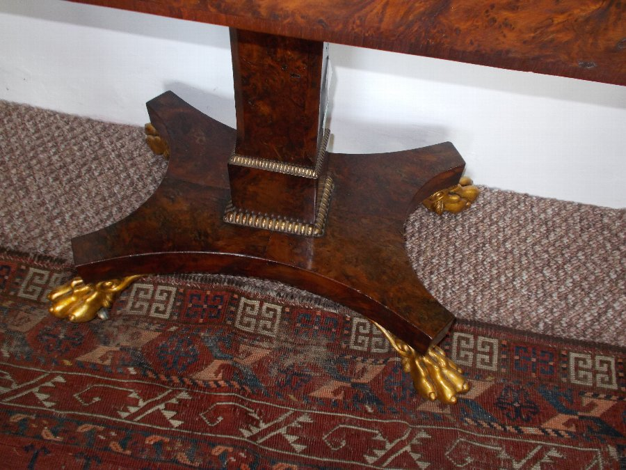 Antique Superb William IV yew wood Card Table Original Baize C1810