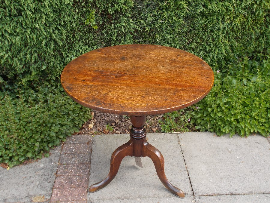 Welsh oak country tripod table