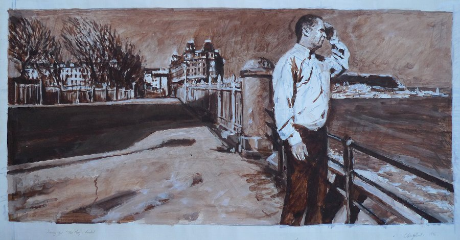 "Original large-scale acrylic sketch ""The Magic Realist"" by Clive Head"