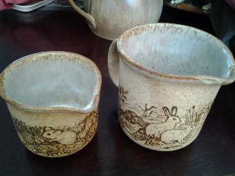 Antique 2 Matching 70's Jugs