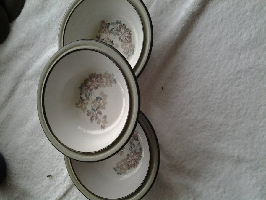 Antique 3 Denby Dessert Dishes from 70/80's