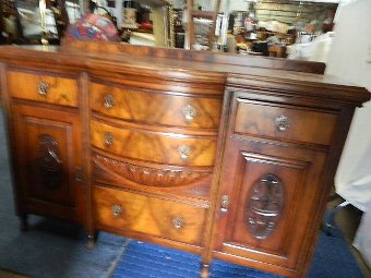 Antique fabulous victorian mahogany sideboard