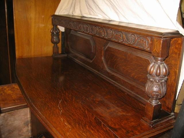 magnificent arts and crafts original oak sideboard