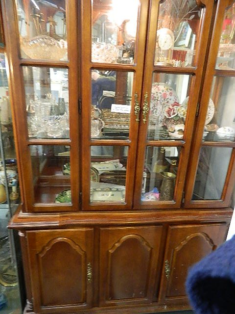traditional large display case