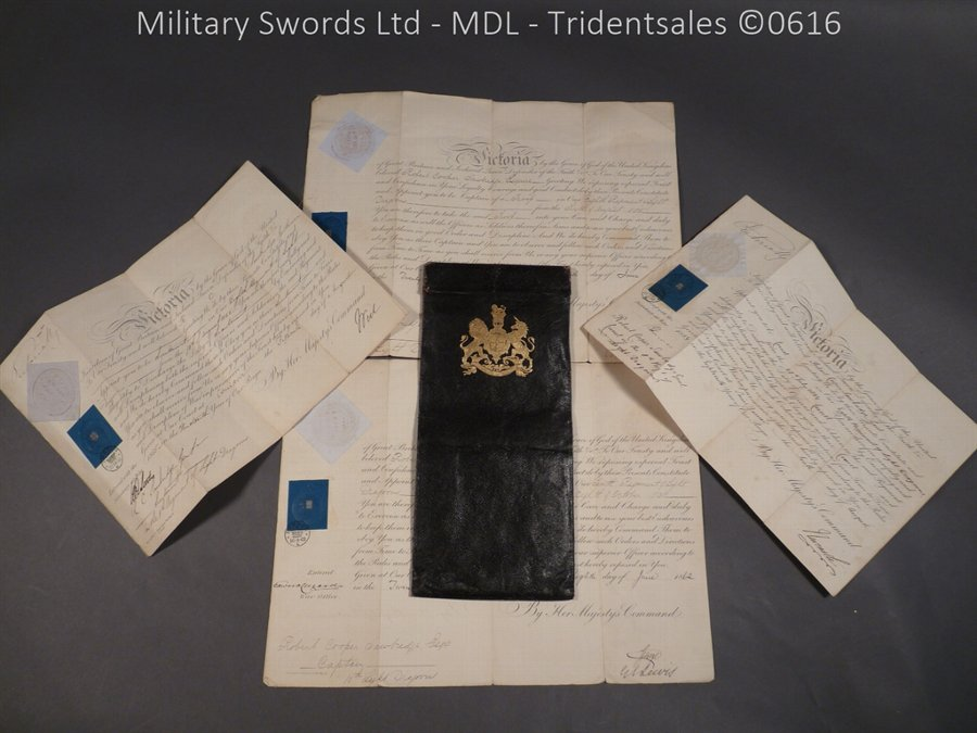 8th and 10th Regiment of Light Dragoons Victorian Officer's Commissions
