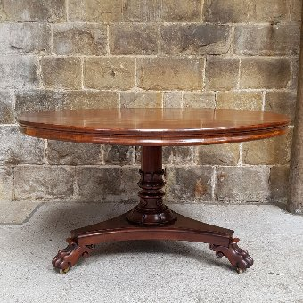 Antique William IV Mahogany Tilt Top Breakfast Table Circa 1835