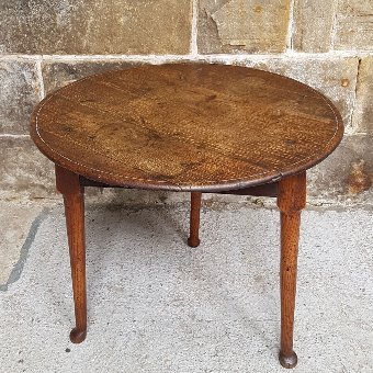 George III Oak & Elm Cricket Table - Late C18th