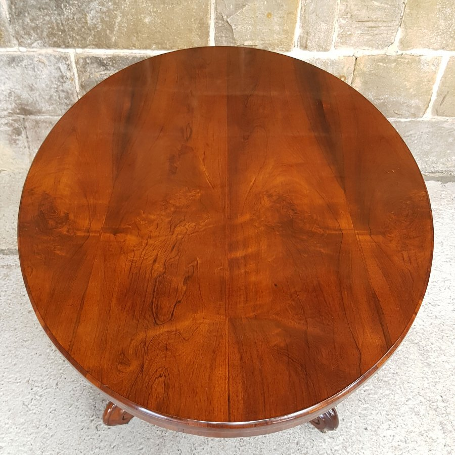Antique Victorian Rosewood Oval Tilt Top Breakfast Loo Table Circa 1875