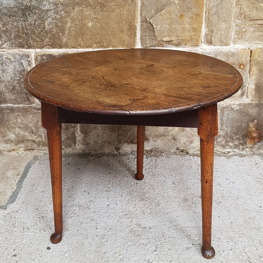 Antique George III Oak & Elm Cricket Table - Late C18th