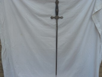 Antique AN AMERICAN MASONIC SWORD AND SCABBARD