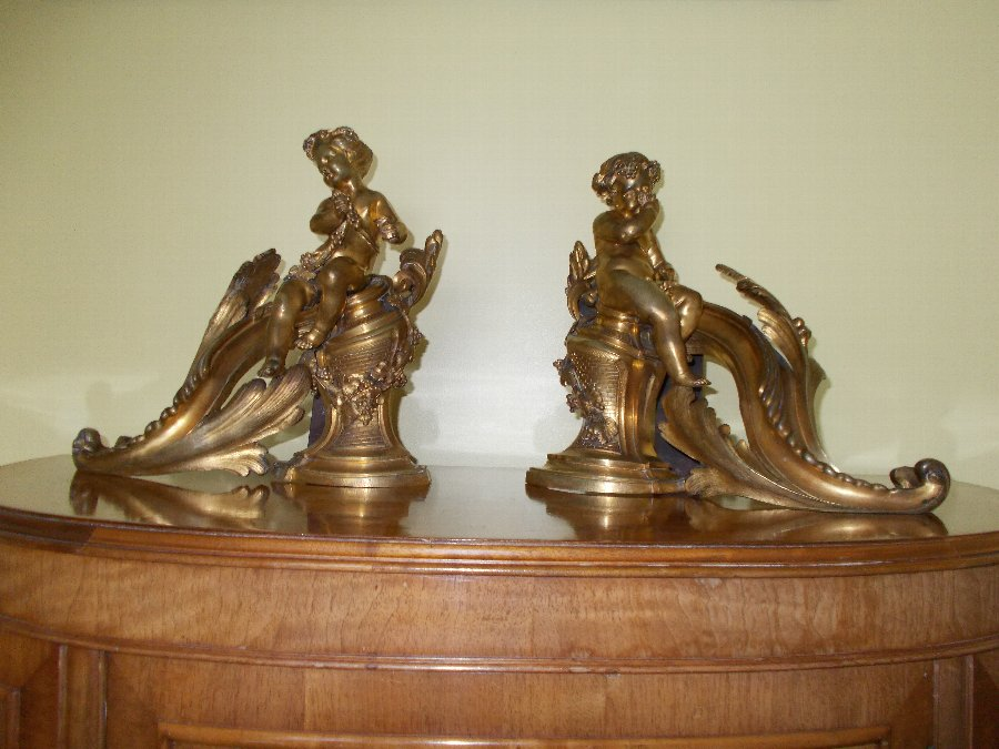 Pair of Ormolu Chenets