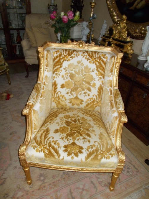 French Gilded Armchair