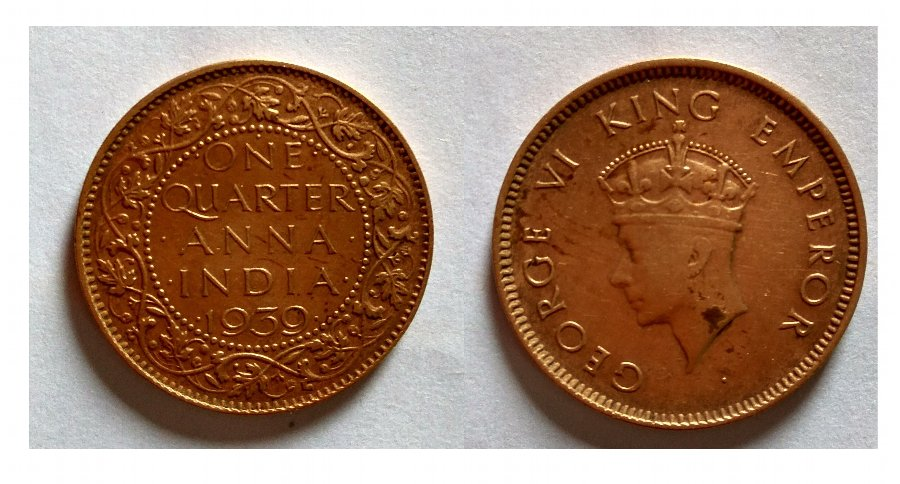 George VI King Emperor British Indian Coin