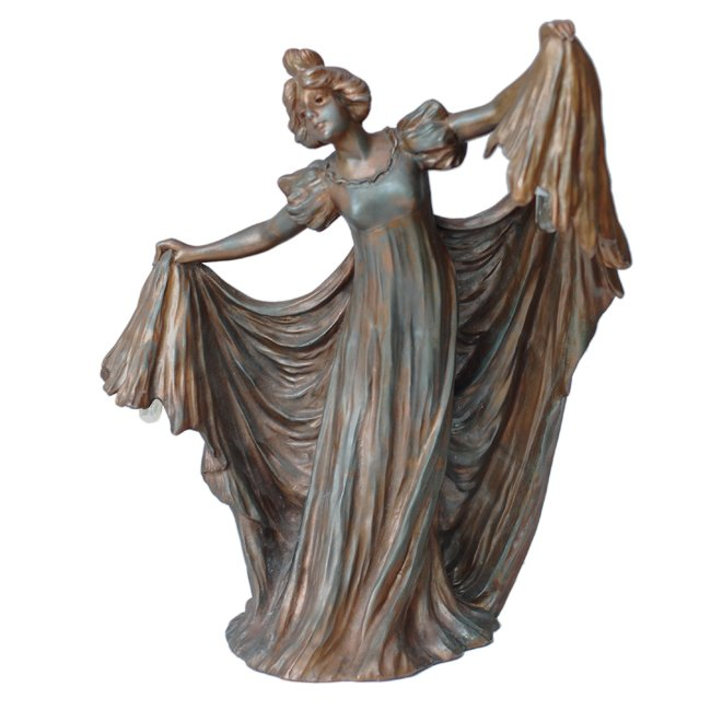 Art Nouveau Lady Figurine Table Lamp