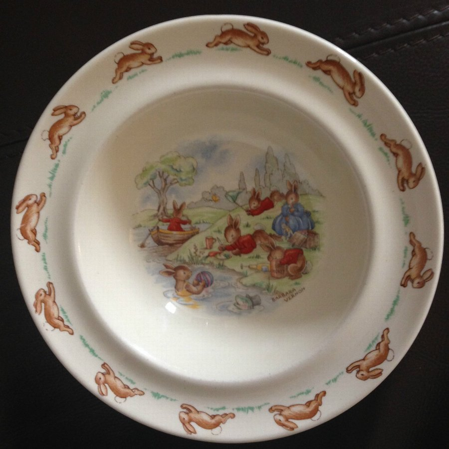 Royal Doulton Bunnykins Bowl Hand Painted and Signed Barbra Vernon