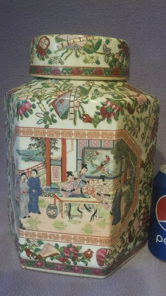 Antique  Chinese antique large famille verte,  Storage Jar