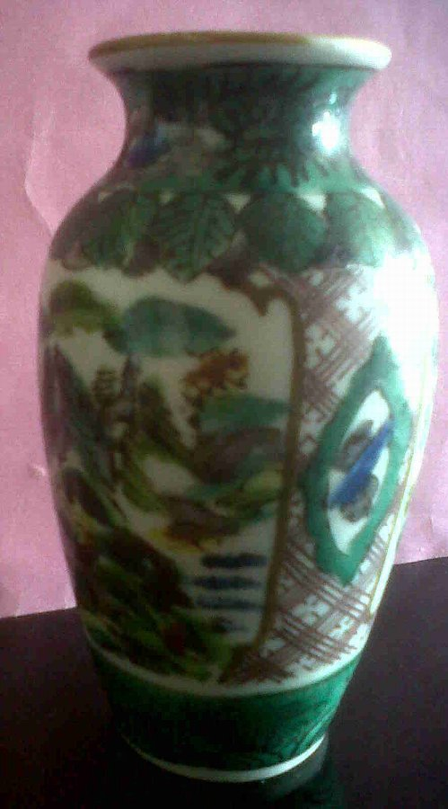 Antique CHINESE PORCELAIN CLOBBERED VASE