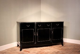 Antique Stylish 1950s English Ebonised Sideboard