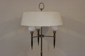 Antique 1950s Adjustable Standing Light with the original Shades