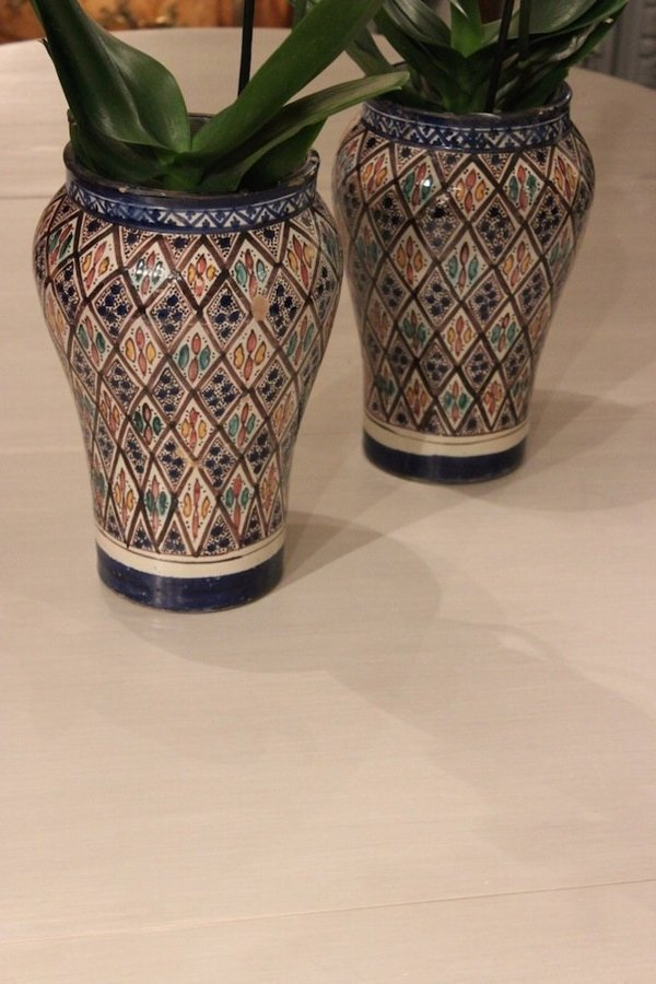 Pair of Late 19th Cent Moroccan Vases