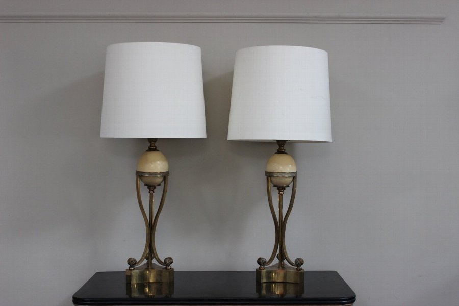 Pair of 1960s French Table Lamps