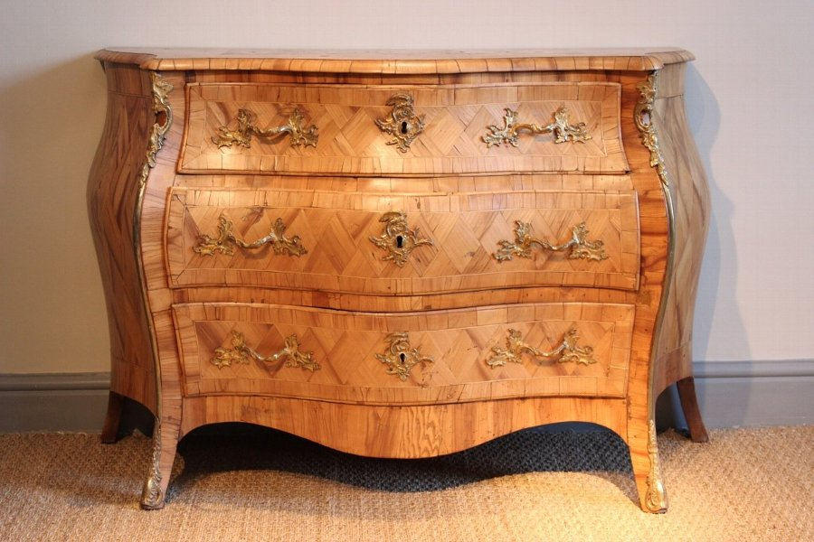 Outstanding 18th Century Swedish Bombe Commode