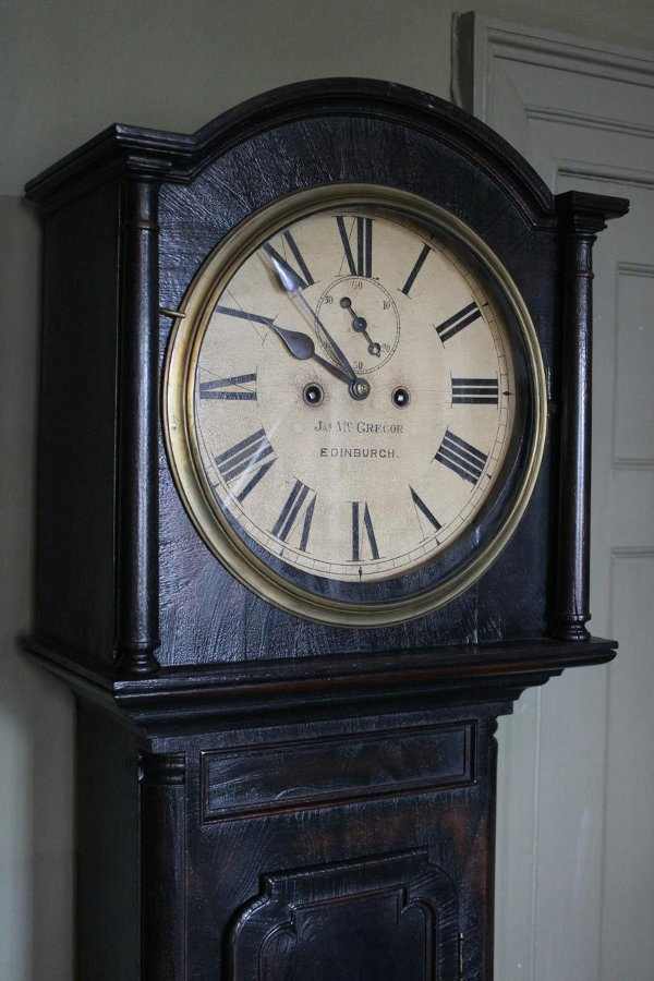 19th Century Scottish Ebonised Grandfather Clock