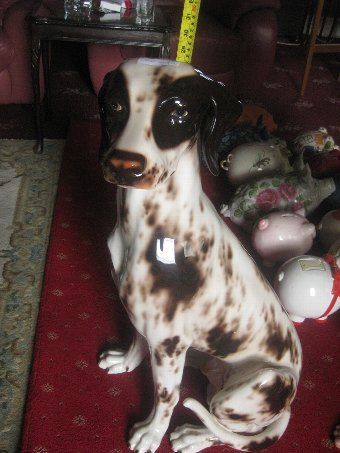 Antique 3 x Large Italian ceramic Dalmatian dog