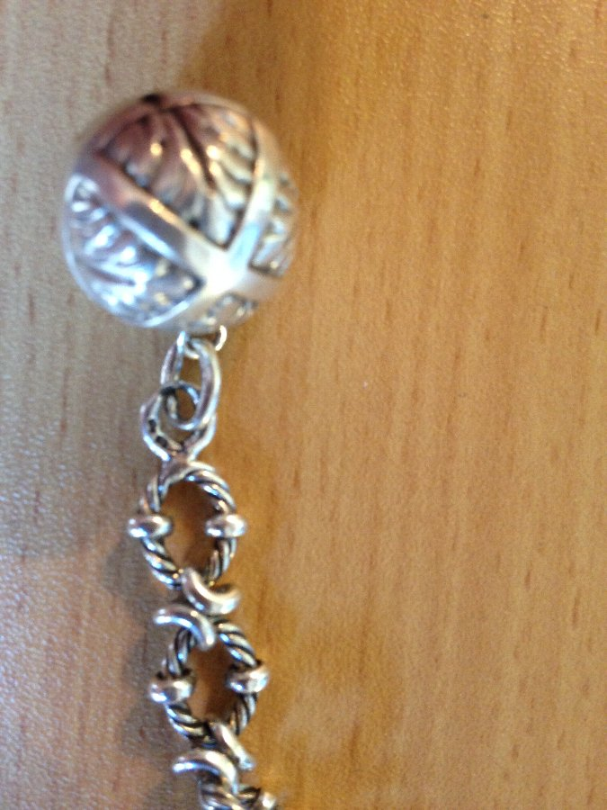 Antique Silver watch chain charm bracelet
