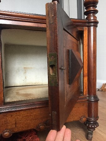 Antique 1890 Victorian Pot Cabinet / Pedestal with casters