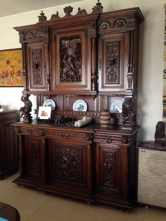 Antique Cupboard + table (see pics)