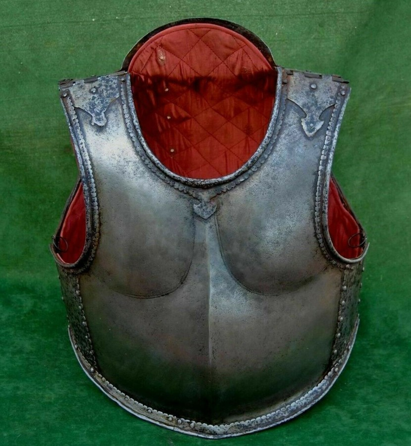 Nice original Deccan Indian mughal islamic wootz Armour cuirass Bakhtar Breastplate