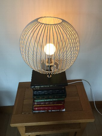 Antique Steampunk coloured changing Book Stack Lamp