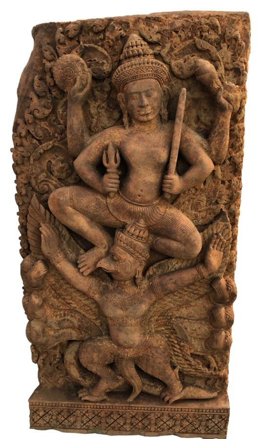 KHMER VISHNU RIDING GARUDA, 11TH CENTURY