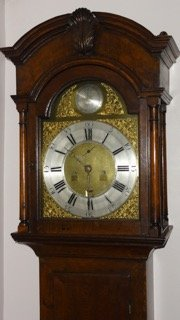 Antique Scottish 18th Century Oak Longcase Clock by Ernest Mearns, Banff