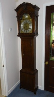 Scottish 18th Century Oak Longcase Clock by Ernest Mearns, Banff