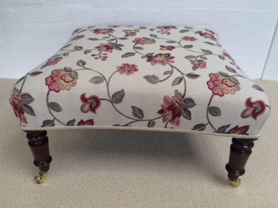 Antique Concaved French Stool