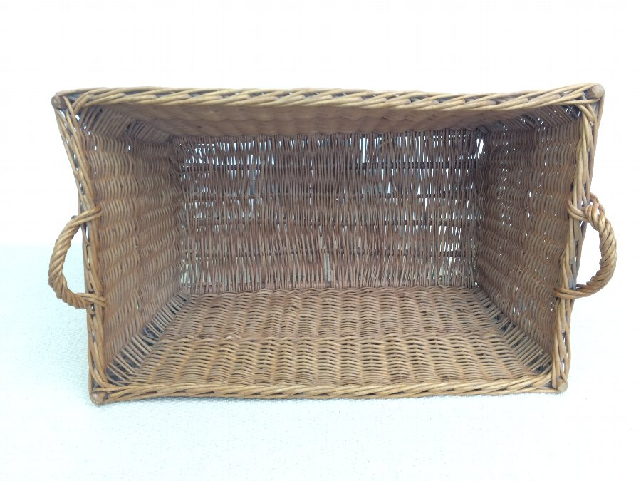 Antique A Large Wicker Basket
