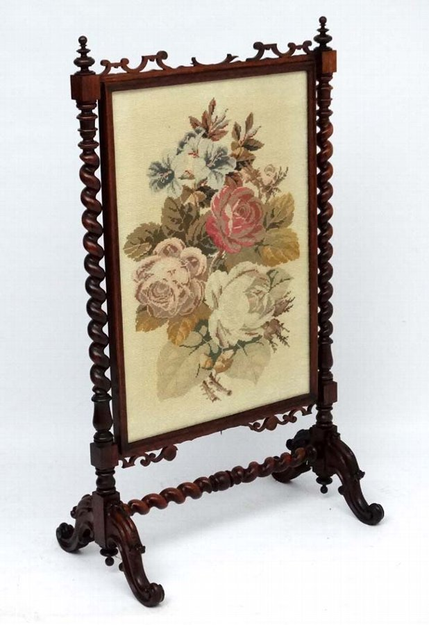 Antique Victorian Fire Screen