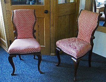 Pair of 19th Century Rosewood Salon or Bedroom Chairs
