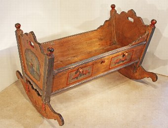 Antique Painted Cradle