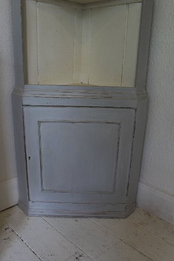 Antique Antique painted Standing Corner cupboard.