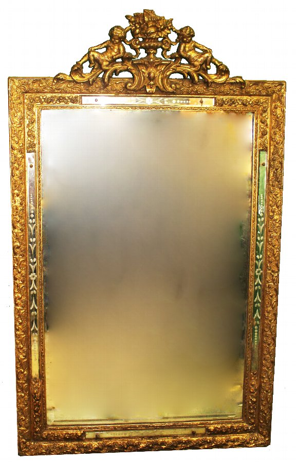 Antique Antique Pier Glass Mirror - Venetian, Rococo style